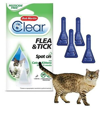 Flea Spot On Cat Tick Lice Job Lot Buy More Save More Bob Martin Clear Uk Stock