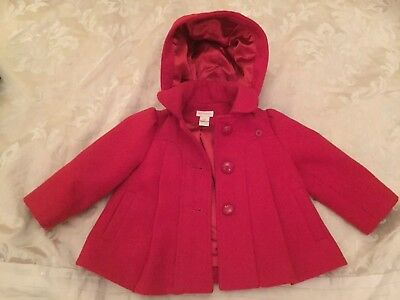 Gorgeous Monsoon red baby girls winter coat, size 3-6 mnths / 0. Worn once.