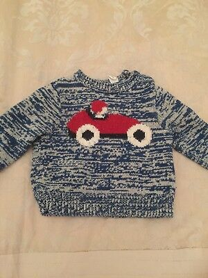 Gorgeous Country Road Blue baby boy car jumper. Size 00.
