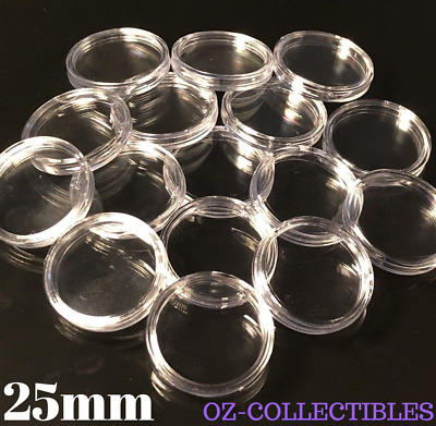 25pcs x 25mm Coin capsule coin holder Suit $ 1 dollar coin-FREE POSTAGE-NEW Case
