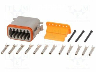 1 pcs Connector: wire-wire; DT; plug; female; Size:16; 0.75÷2mm2; PIN:12