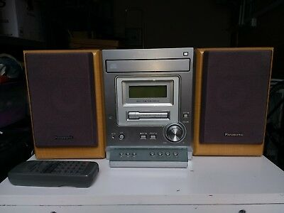 Panasonic Cd Stereo System Sa-Pm07 Radio Cassette And Cd Player/ Remote Control