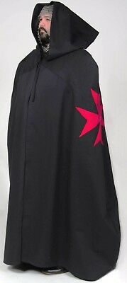 CRUSADER MEDIEVAL KNIGHT CAPE - Maltese Cross Warrior Gothic Adult Male In Stock
