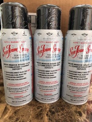 3 PACK - SS14 Sea Foam Spray Quick Acting Top Engine Cleaner & Lube 12 oz Bottle