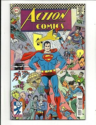 ACTION COMICS # 1000 (DC 80-PG GIANT, 1960s VARIANT COVER, June 2018), NM NEW