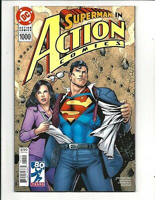 ACTION COMICS # 1000 (DC 80 PAGE GIANT, 1990s VARIANT COVER, June 2018), NM NEW