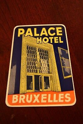 Vintage Palace Hotel Brussels Belgium Water Decal Travel Vacation Luggage