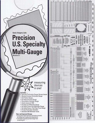 Stamps Perforation Multi Gauge Scott Precision US Specialty 12 in 1 GO no GO
