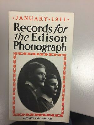 Records For The Edison Phonograph 1911