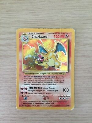 Pokemon - Charizard 4/102 - Base Set - Holo - Ita - Played