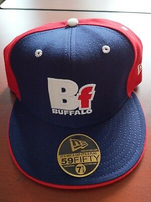 d8be4a23d86 New Vintage Football New Era BUFFALO BILLS Fitted Hat Cap 7 7 8 Fifty Nine