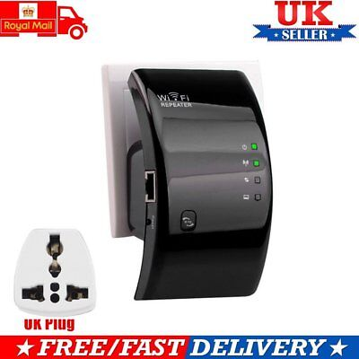 300Mbps Wireless N 802.11 AP Wifi Repeater Range Booster Extender Router UK