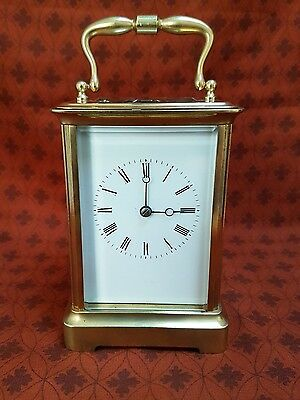 A fine quality French striking carriage clock - late 1800