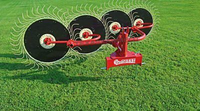 Enorossi RP5 5 Wheel 3-Point Hay Rake - Ships Free to TX & Surrounding States!
