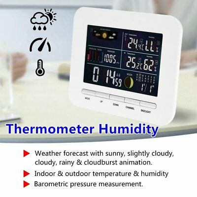 Wireless Professional Weather Station Indoor Outdoor Thermometer Humidity QP