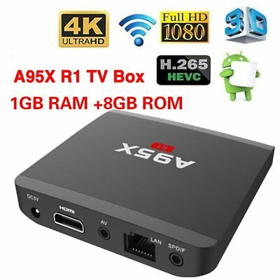 A95X R1 Smart TV Box Media Streamer 4K RK3229 Quad Core Android 6.0 Wifi1G+8G MS