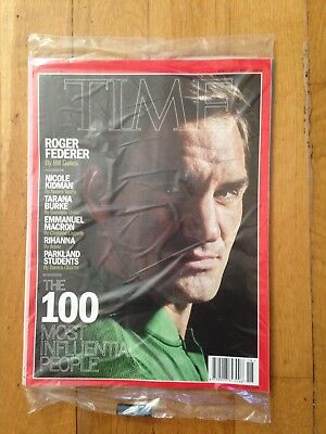 TIME Magazine April 30, 2018 Roger Federer + New In Unopened Mail Wrap