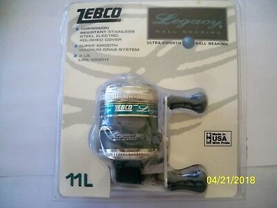 VINTAGE ZEBCO Legacy 11L SPINCAST REEL Unopened NEW IN PACKAGE Made in USA