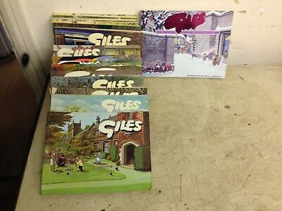 18 x GILES CARTOON ANNUALS UNCLIPPED from late 60's to 80's