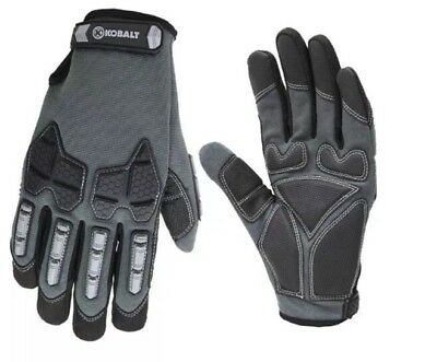 New Medium Men's Black Synthetic Leather High Performance Work Gloves Washable