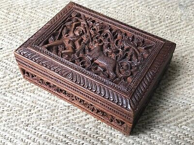 A Fine Carved Anglo Indian Sandalwood Box From Mysore
