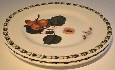 """New Queens Hookers Fruit Apricots - Pair Tea / Side / Cake Plates 6.5"""" / 16.5Cm"""