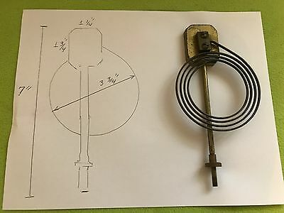Antique Clock's Coil Gong Chime and Bolt Spare