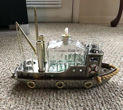 Vintage Musical Boat Liquor Decanter