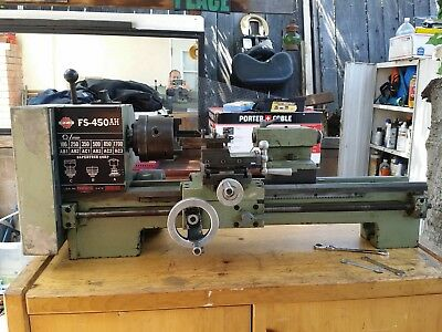"""Lathe Fs 450 Ah 4 1/2"""" Chuck 19"""" Bed With Tooling"""