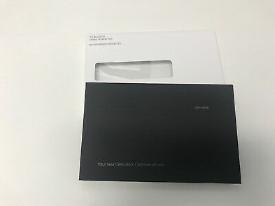 American Express Centurion Black Card Your Card Has Arrived Empty Box