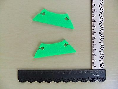 2 Beater Ornate Inkle Shuttles for Inkle Looms and Weaving Looms NEW Neon Green