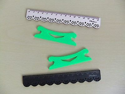 2 Beater Ornate Inkle Shuttles for Inkle Looms and Weaving Looms *NEW* Green !