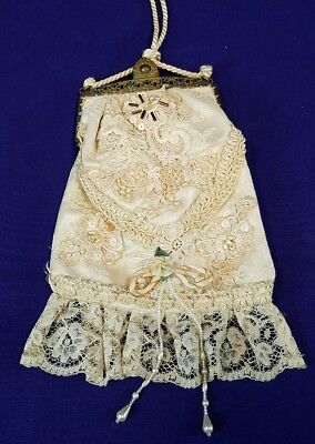 Susan Lane's Country Elegance Vintage Lace Wedding Purse Brass Clasp
