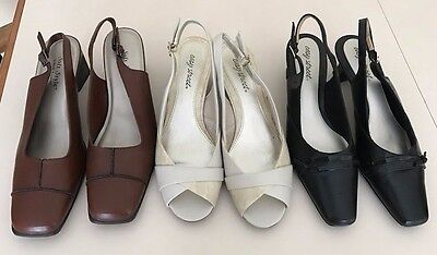 Women's Dress Shoes Heels  Lot Of Three Pairs Easy Street Hush Puppies Size 10