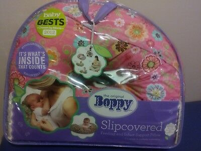 Boppy Pillow Nursing Support Removable Floral Slipcover ~ Gently Used