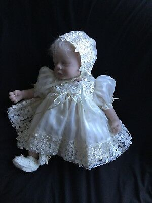 Reborn Doll Dress Set. Cream Organza /venise Lace. 19-2