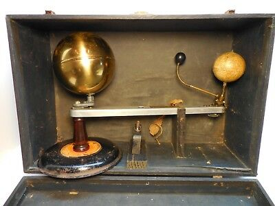Antique / Vintage Vetter Ideal Planetarium With Case Patent Pending Old Orrery