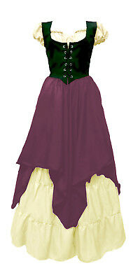 Renaissance Medieval Wench Pirate Faire Celtic Peasant 3 Piece Costume xxs/xs