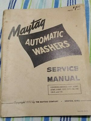 1950 Maytag 140-140s Automatic Washers service manual