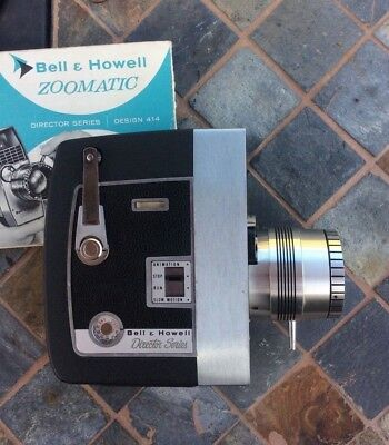 Bell &Howell Director Series Zoomatic 8mm Camera-Vintage Film movie camera-