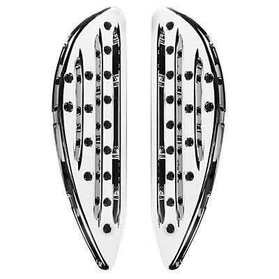 Chrome Shallow Cut Front Driver Floorboards For Harley Street Glide Road King