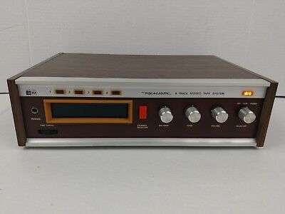Vintage Realistic Solid State 8 Track Stereo Tape System Model 14-913 Tested 💯