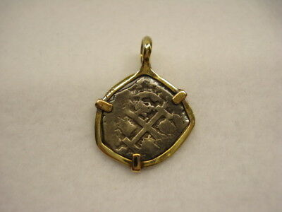 14K Gold Pendant with Ancient Coin 6.8g Scrap Wear Sell NO RESERVE NR