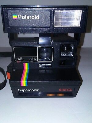Polaroid SuperColor 635CL Instant Print Camera.**TESTEDWORKING** FREE SHIPPING