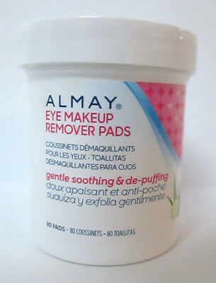 Almay Soothing  De-Puffing Gentle Eye Makeup Remover Pads 80 ea Hypoallergenic
