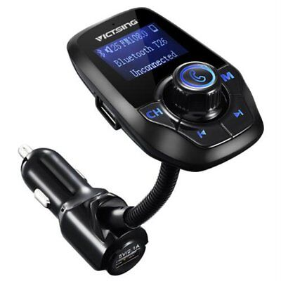 VicTsing LCD Wireless Bluetooth FM Transmitter Car Kit USB Charger Handsfree New