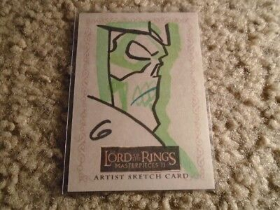 Lord Of The Rings Masterpieces Ii Sketch Card 1/1 1 Of 1
