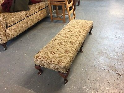 Quality Rare Antique Victorian Oak Framed Chesterfield Footstool          M2437A