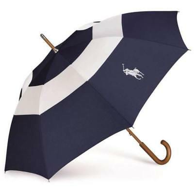 Ralph Lauren Blue & White Large / Golf Umbrella With Cover