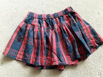 Gorgeous Girls Red & Blue Check Flare Summer Shorts. Age 11 Years From Next.